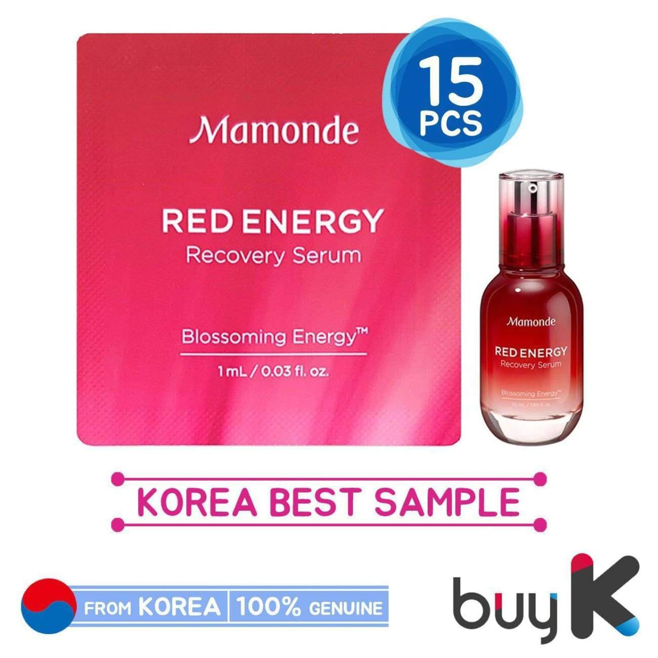 15pcs [MAMONDE] Red Energy Recovery Serum 1ml (Sample Sachet)