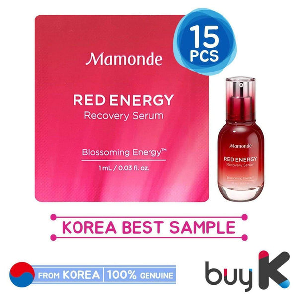 15pcs [MAMONDE] Red Energy Recovery Serum 1ml (Sample Sachet) - BuyK.KR
