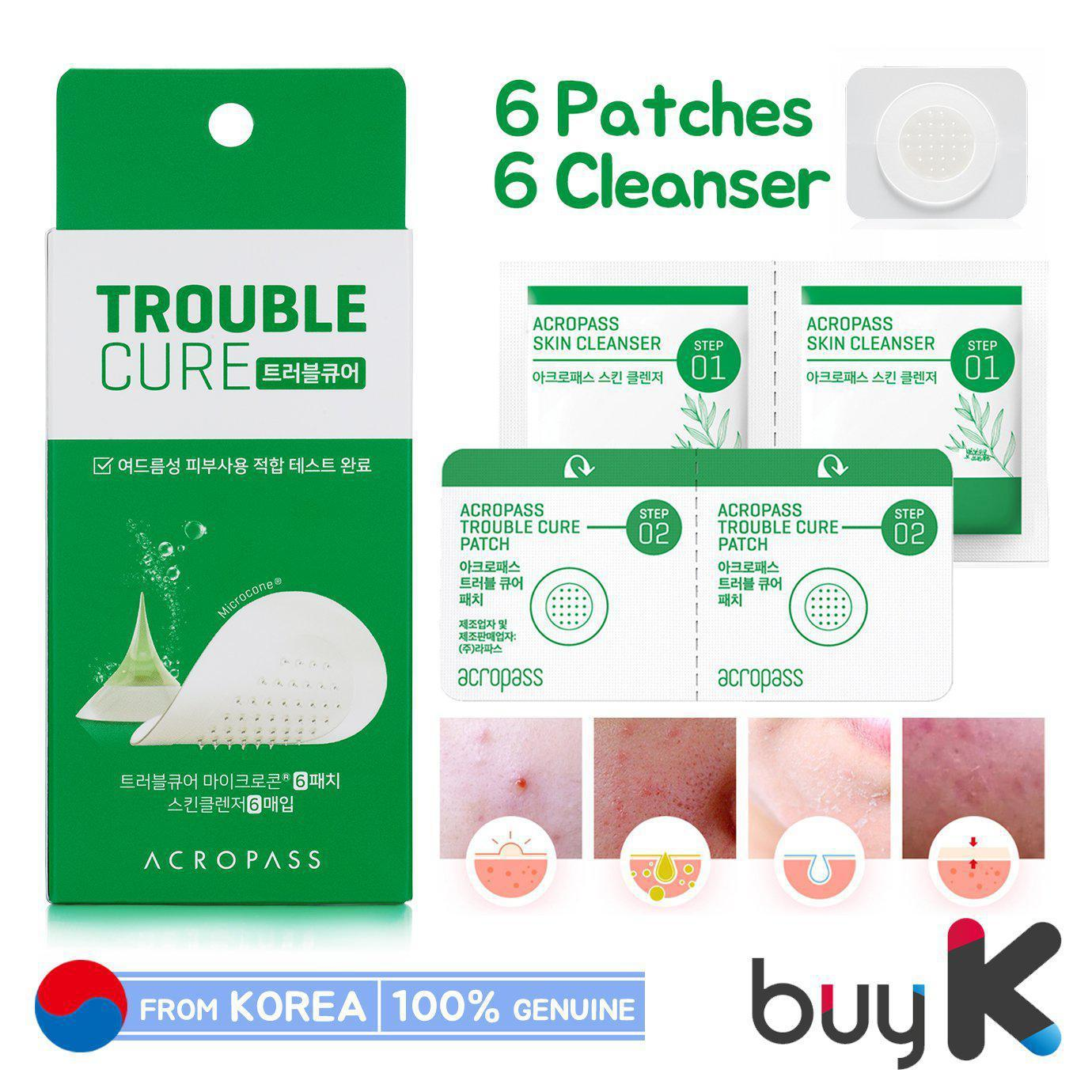 [ACROPASS] Trouble Care Microneedle Patch (6 Patches & 6 Cleanser)