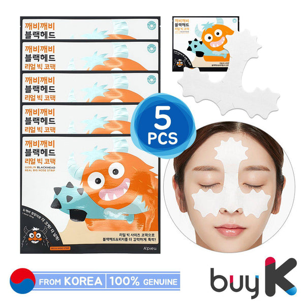 5pcs [A'PIEU] Goblin Blackhead Real Big Nose Pack