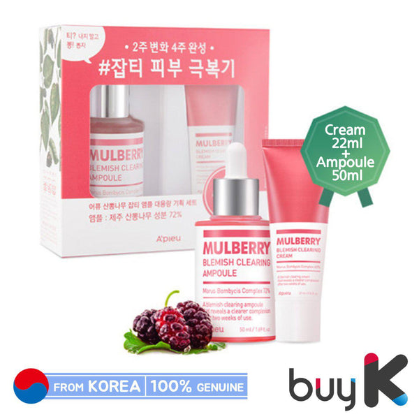 [A'PIEU] Mulberry Blemish Clearing Ampoule 50ml Special Set