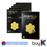 [A'PIEU] Propolis 3-Step Mask 32.5g (1 box / 5pcs sheet) - BuyK.KR