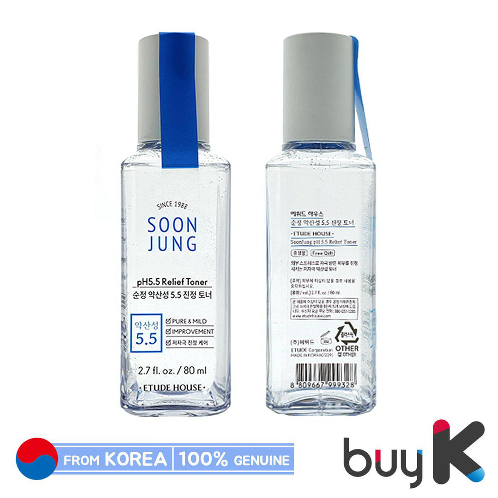 [ETUDE HOUSE] SoonJung pH 5.5 Relief Toner 80ml (Sample) - BuyK.KR