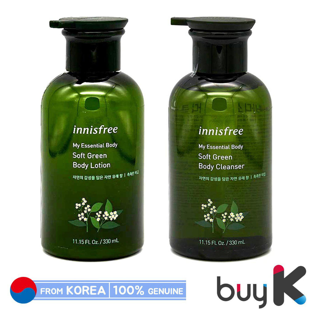 [INNISFREE] My Essential Body Soft Green Body Lotion / Cleanser 330ml