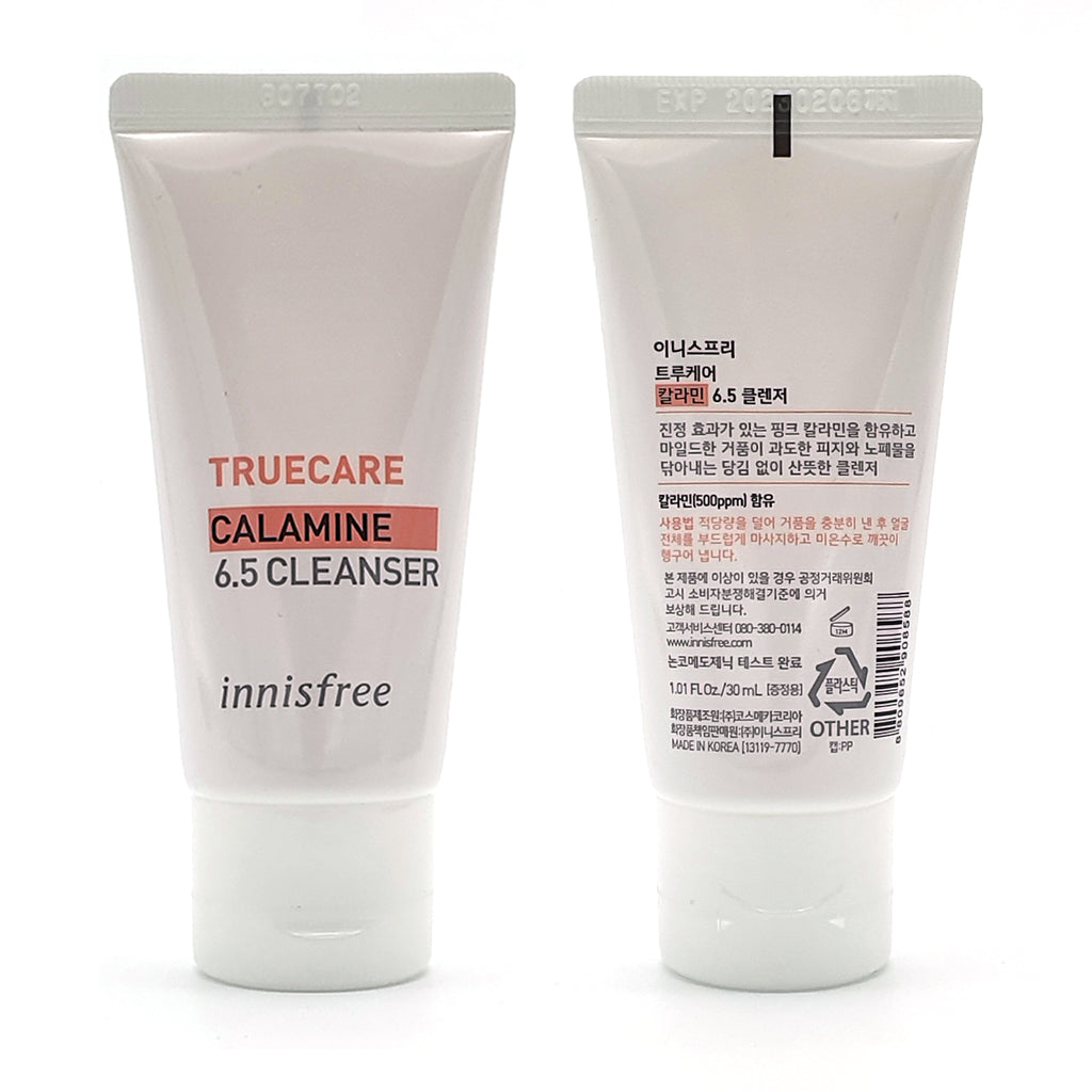 3pcs [INNISFREE] True Care Calamine 6.5 Cleanser 30ml (Sample) - BuyK.KR
