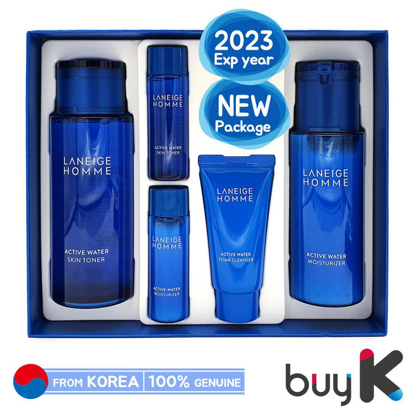 [LANEIGE] Homme Active Water Duo Set (Include 5 items)