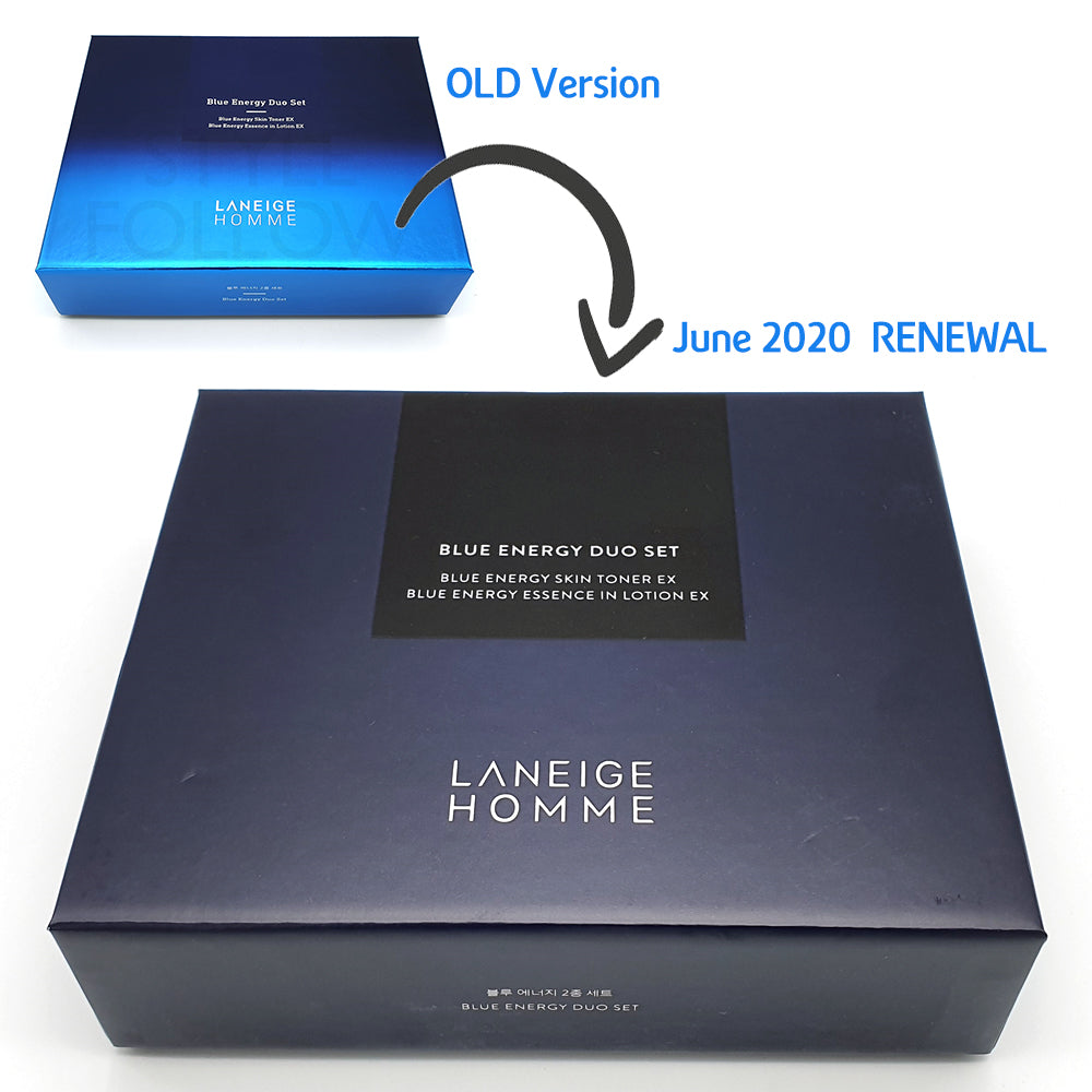 [LANEIGE] Homme Blue Energy Duo Set (Include 4 items)