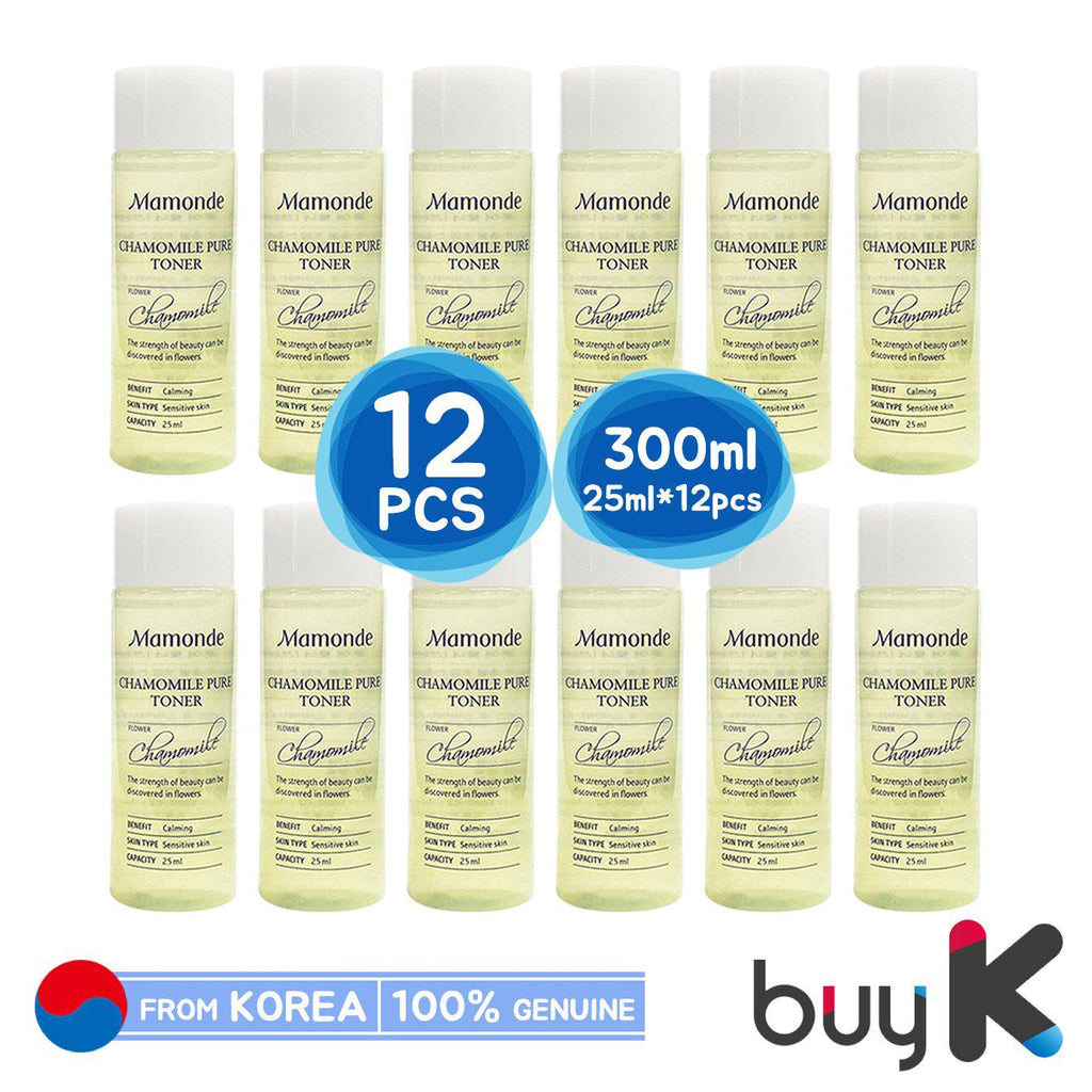 12pcs/300ml [MAMONDE] Chamomile Pure Toner 25ml (Sample) - BuyK.KR
