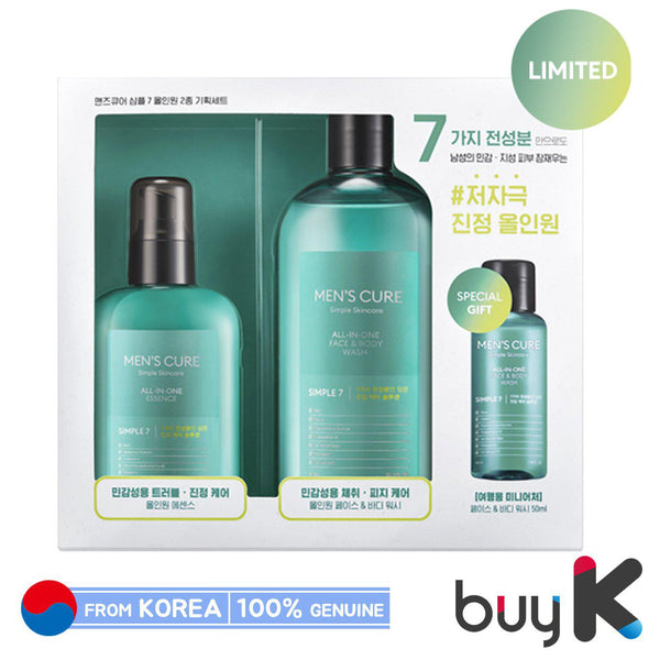 [MISSHA] Men's Cure Simple7 All in one Special Set (Include 3 items)