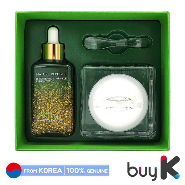 [NATURE REPUBLIC] Ginseng Royal Silk 24K Gold Ampoule & Watery Cream Special Set