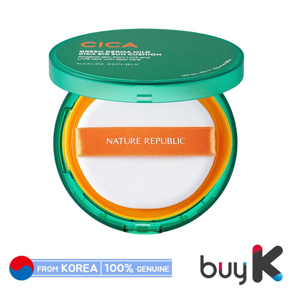 [NATURE REPUBLIC] Green Derma Mild Cica Big Sun Cushion 25g (SPF50+/PA++++)