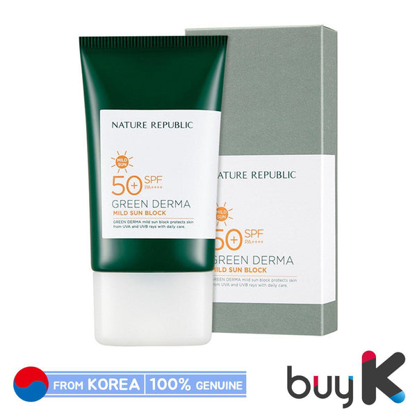[NATURE REPUBLIC] Green Derma Mild Sun Cream 50ml (SPF50+/PA++++)