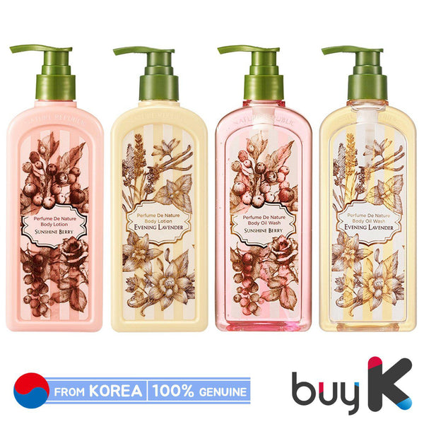 [NATURE REPUBLIC] Perfume De Nature Body Lotion / Wash 345ml - BuyK.KR