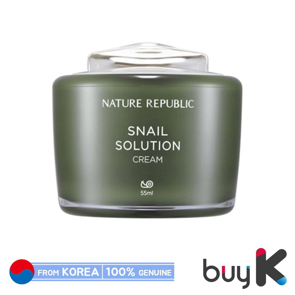 [NATURE REPUBLIC] Snail Solution Cream 55ml - BuyK.KR