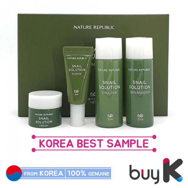 [NATURE REPUBLIC] Snail Solution Trial Kit (Include 4 items)