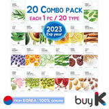 [THE FACE SHOP] Real Nature Face Mask - 20 Combo Pack (each 1pc X 20 type = 20pcs) - BuyK.KR