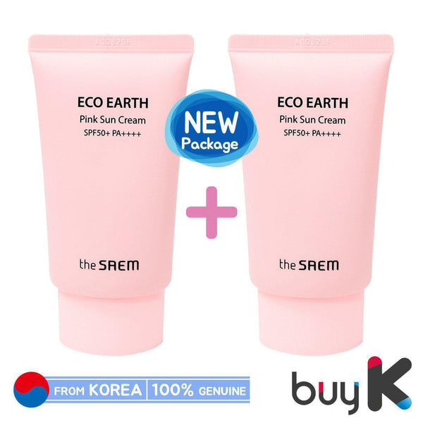 1+1 [THE SAEM] Eco Earth Power Pink Sun Cream 50g (SPF50+/PA++++)