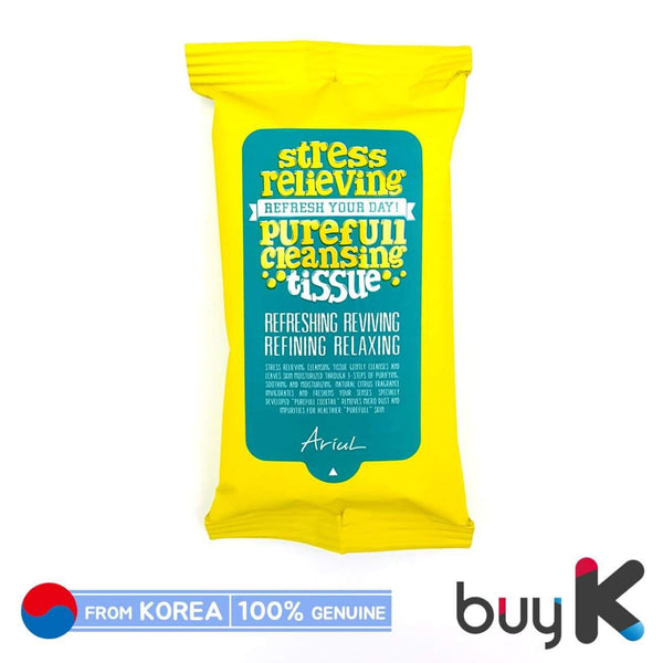 [ARIUL] Stress Relieving Purefull Cleansing Tissue 80g (1 pack / 15 sheets) - BuyK.KR
