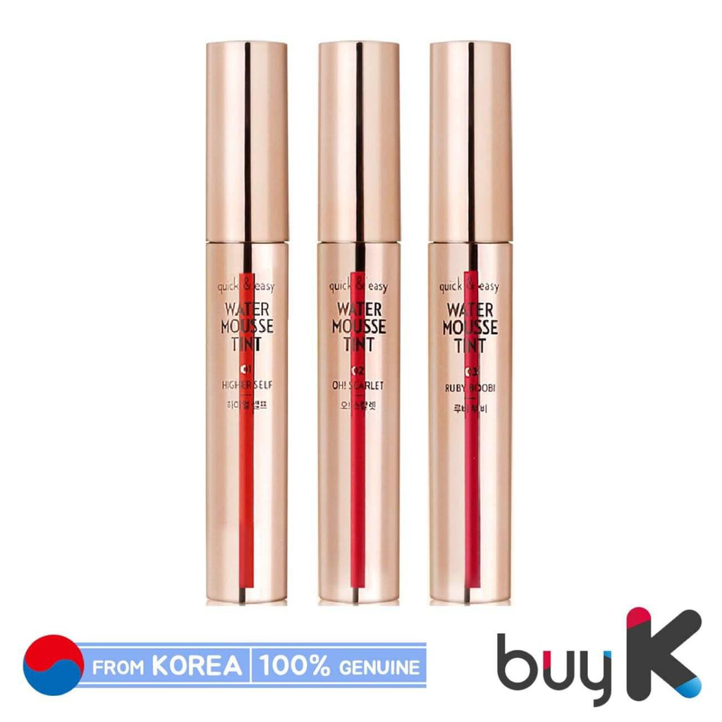 [ETUDE HOUSE] Quick & Easy Water Mousse Tint 4.4g (3 color) - BuyK.KR