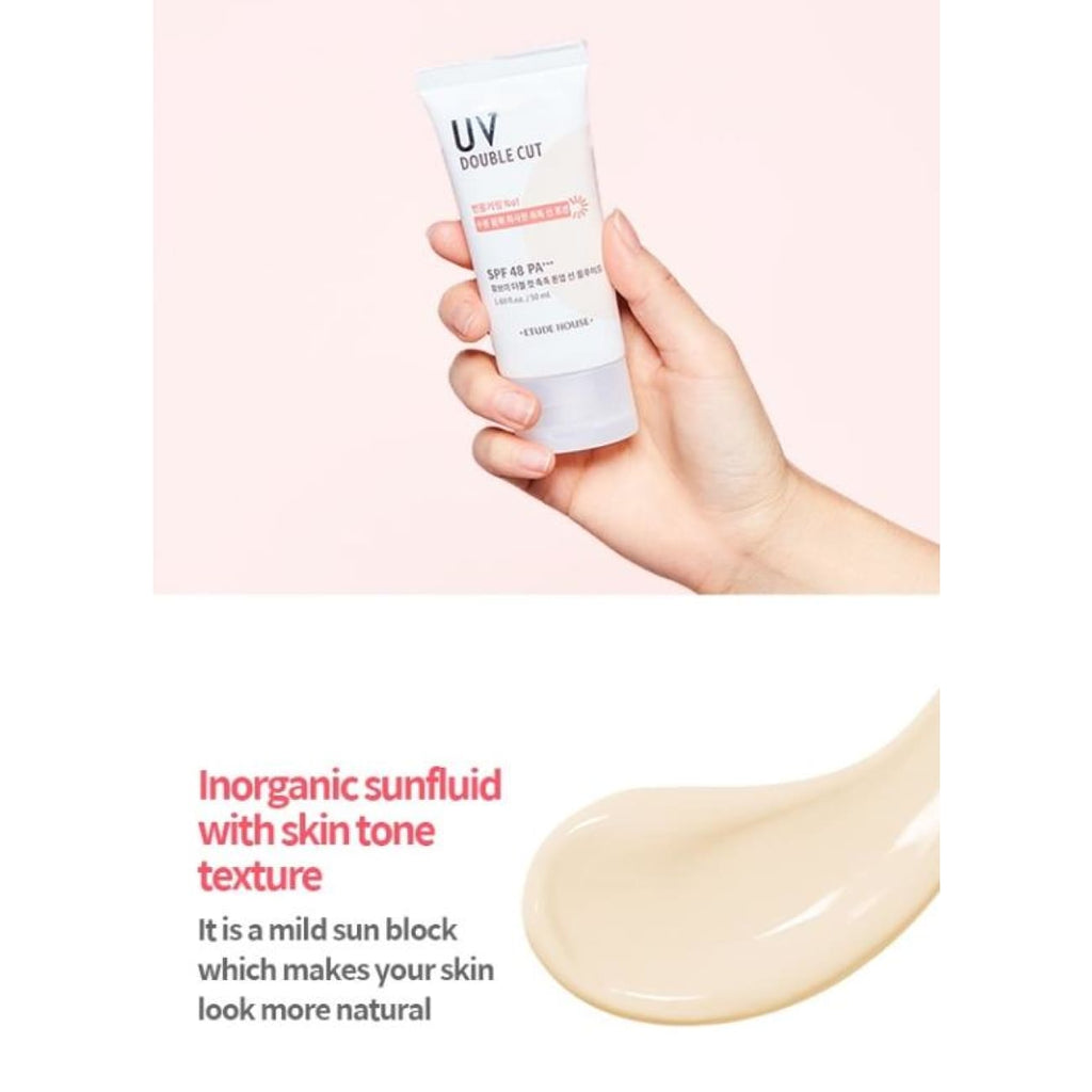 [ETUDE HOUSE] UV Double Cut Moist Tone Up Fluid 50ml (SPF48/PA+++) - BuyK.KR