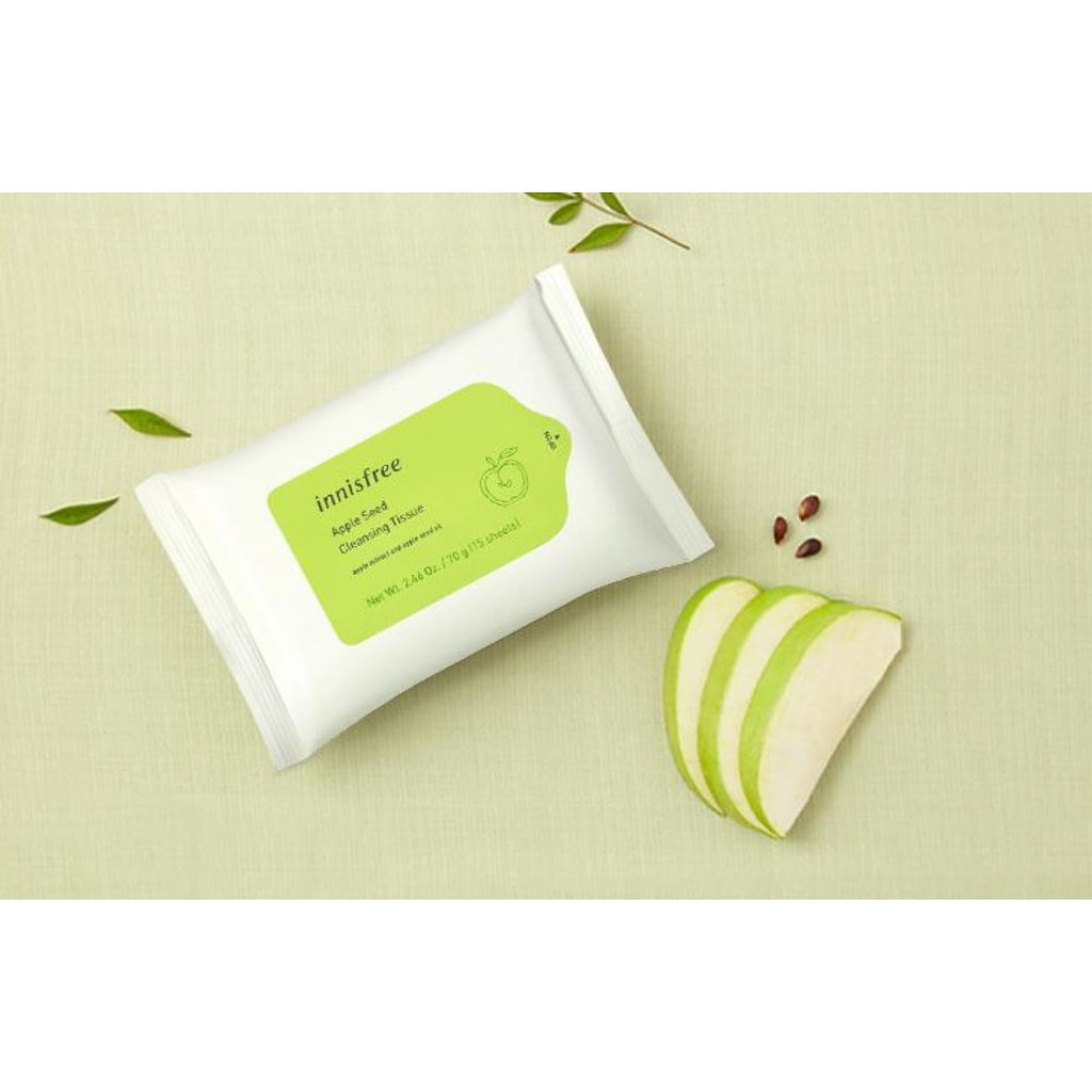 [INNISFREE] Apple Seed Cleansing Tissue (1 pack / 15 sheets) - BuyK.KR