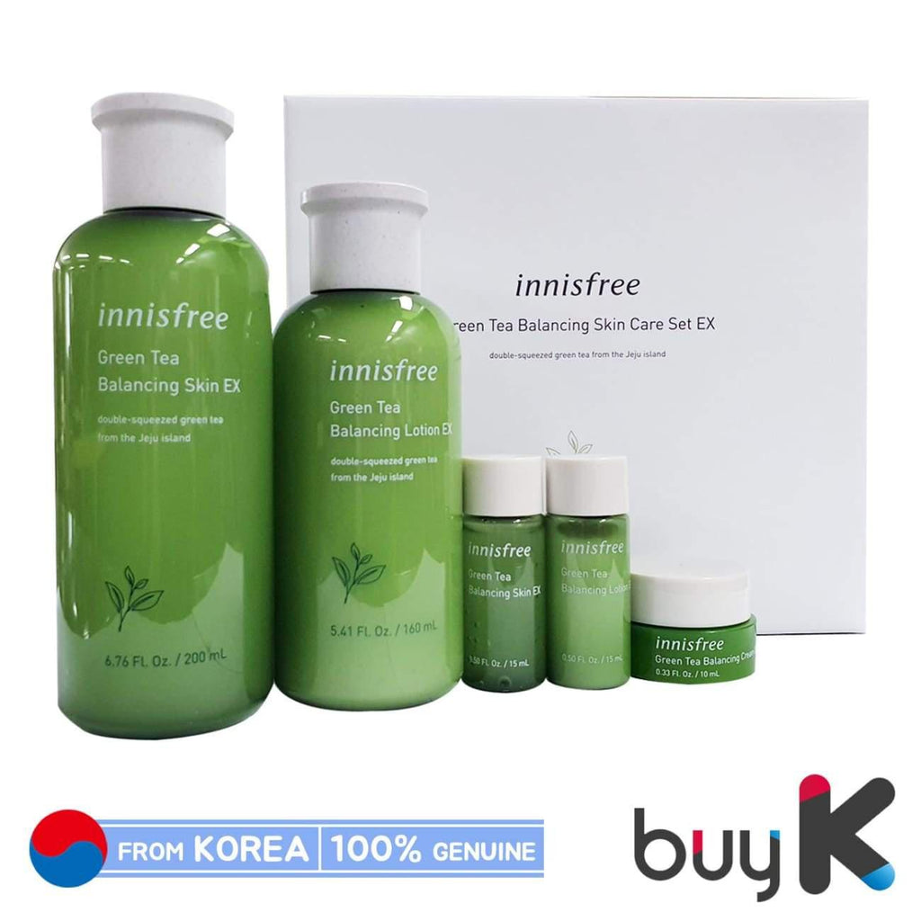 [INNISFREE] Green Tea Balancing Skin Care Set EX (Include 5 items) - BuyK.KR
