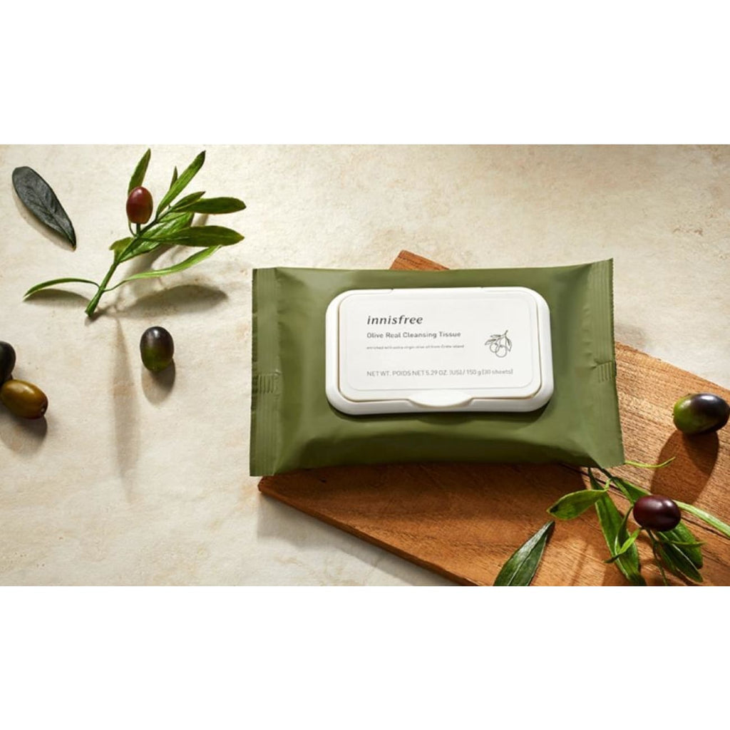 [INNISFREE] Olive Real Cleansing Tissue (1 pack / 30 sheets) - BuyK.KR
