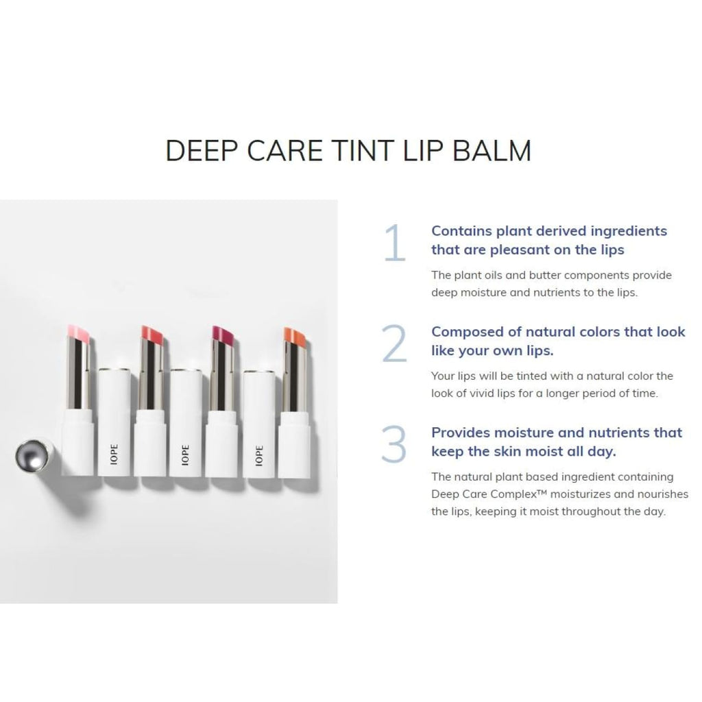 [IOPE] Deep Care Tint Lip Balm 2.8g (4 color) - BuyK.KR