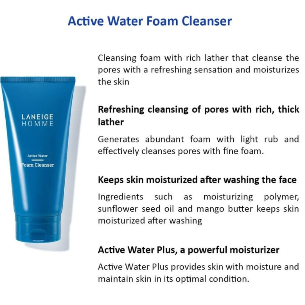 [LANEIGE] Homme Active Water Duo Set (Include 5 items) - BuyK.KR