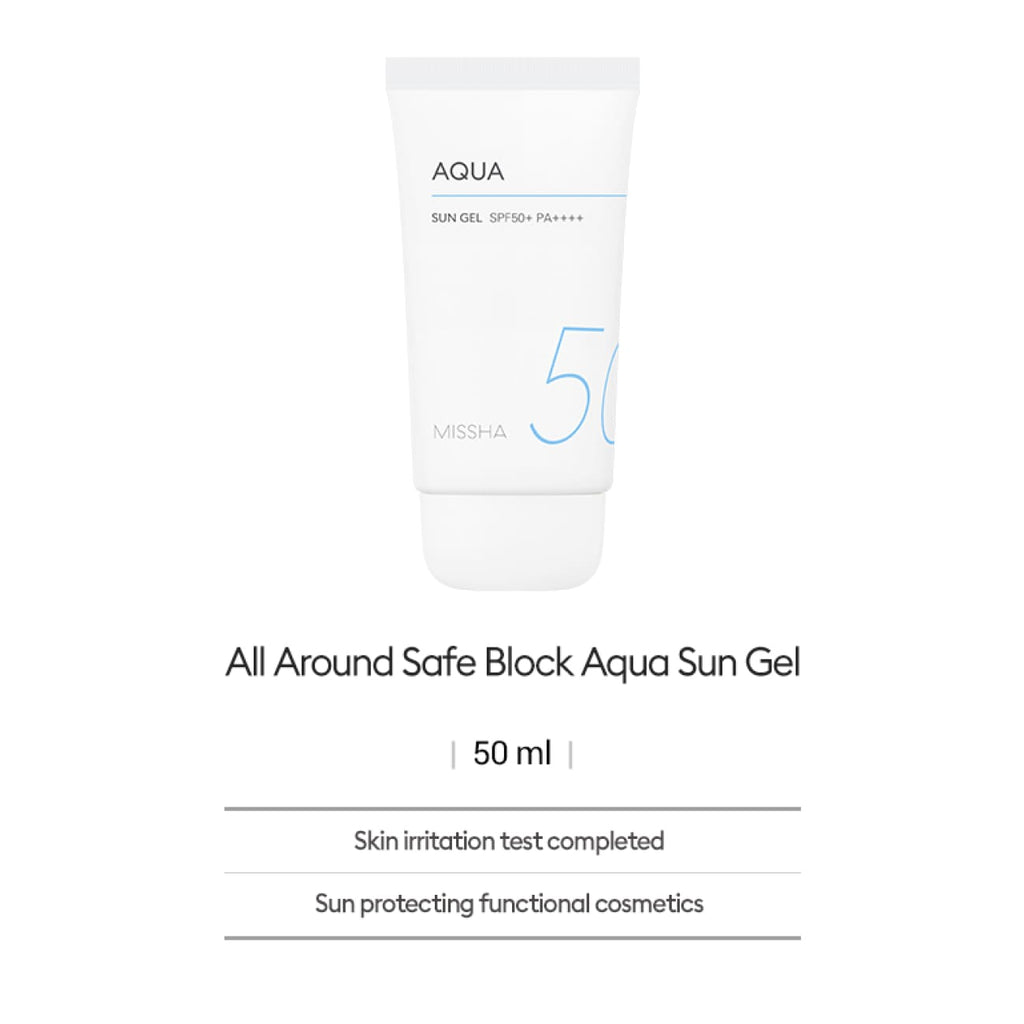[MISSHA] All Around Safe Block Aqua Sun Gel 50ml (SPF50+/PA++++) - BuyK.KR