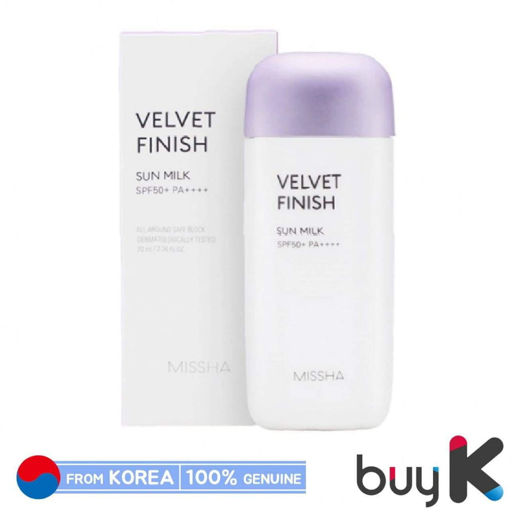 [MISSHA] All Around Safe Block Velvet Finish Sun Milk 70ml (SPF50+/PA++++) - BuyK.KR