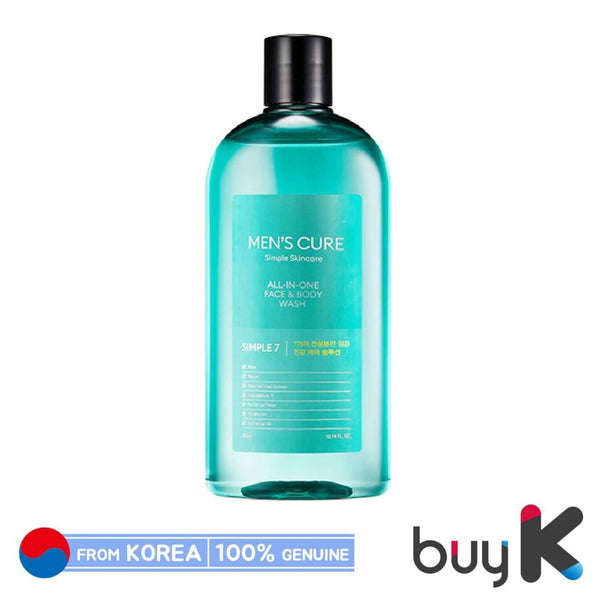 [MISSHA] Men's Cure Simple 7 All In One Face & Body Wash 300ml - BuyK.KR