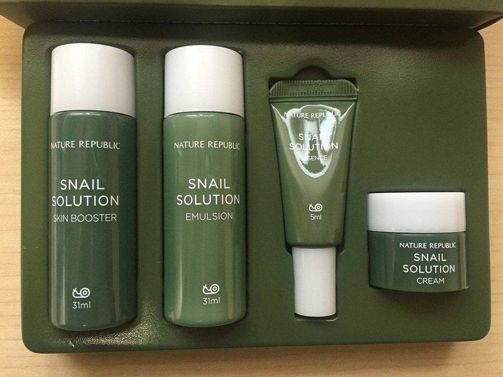 [NATURE REPUBLIC] Snail Solution Trial Kit (Include 4 items) - BuyK.KR