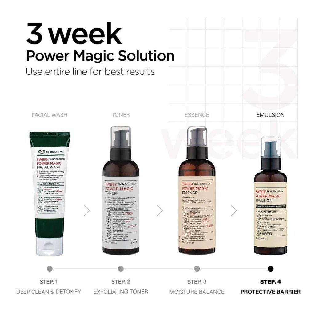 [SO COOL SO ME] 3 Week Skin Solution Power Magic EMULSION 130ml - BuyK.KR