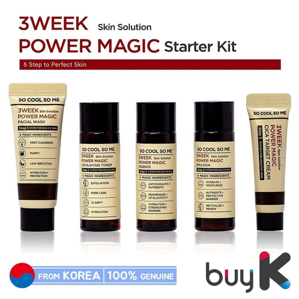 [SO COOL SO ME] 3 Week Skin Solution Power Magic Starter Kit (Include 5 items) - BuyK.KR