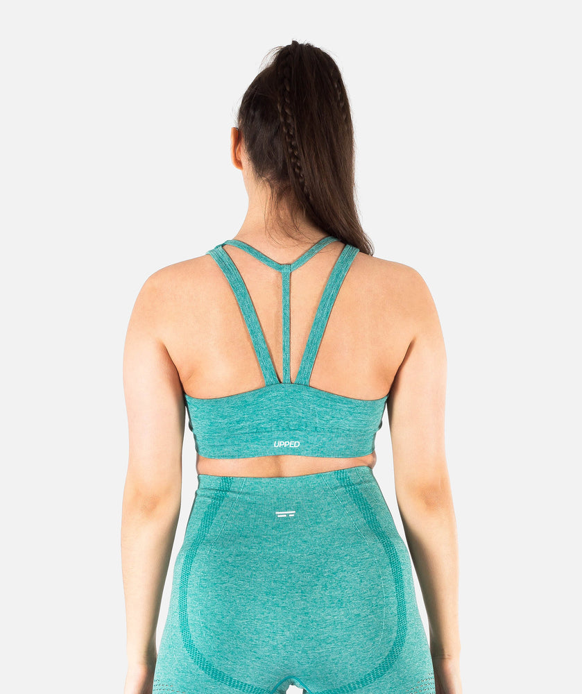 Swift Seamless Sports Bra - Aqua