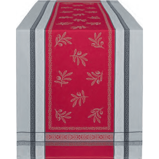 Chemins de table Jacquard Olivia