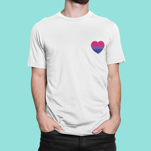 Bisexual Heart Pocket Print Shirt