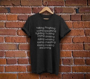 The L Word Lyrics Shirt - Unisex Black Tee
