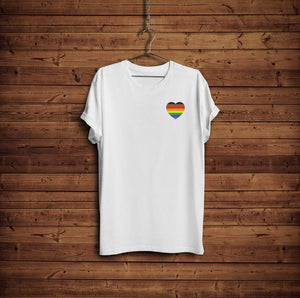 Gay Pride Shirt - More Color More Pride Shirt - Rainbow Heart