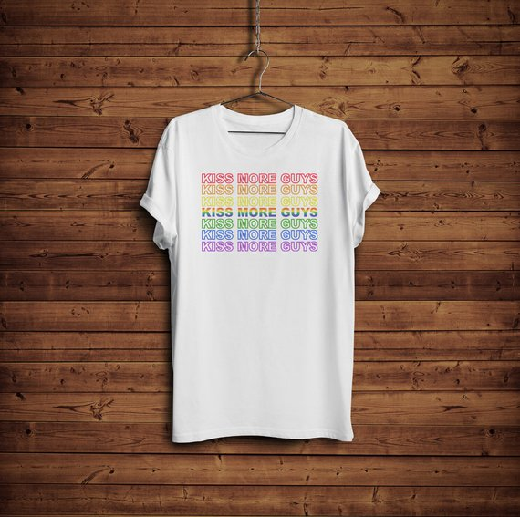 Kiss More Guys Gay Pride Shirt