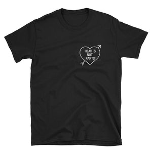 Hearts Not Parts Pansexual Pride T-Shirt