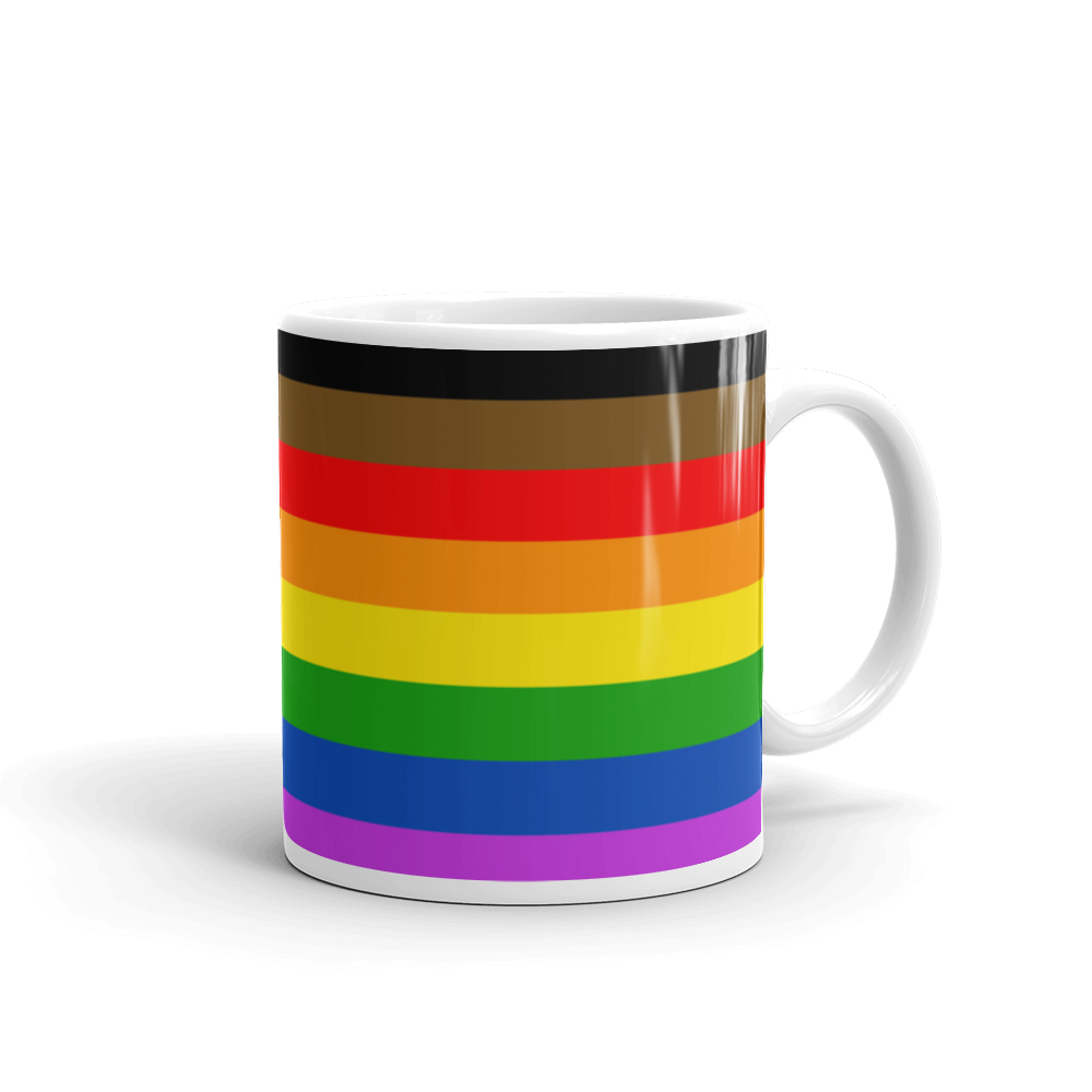 Gay Pride Mug - More Color More Pride - Philly Pride Flag