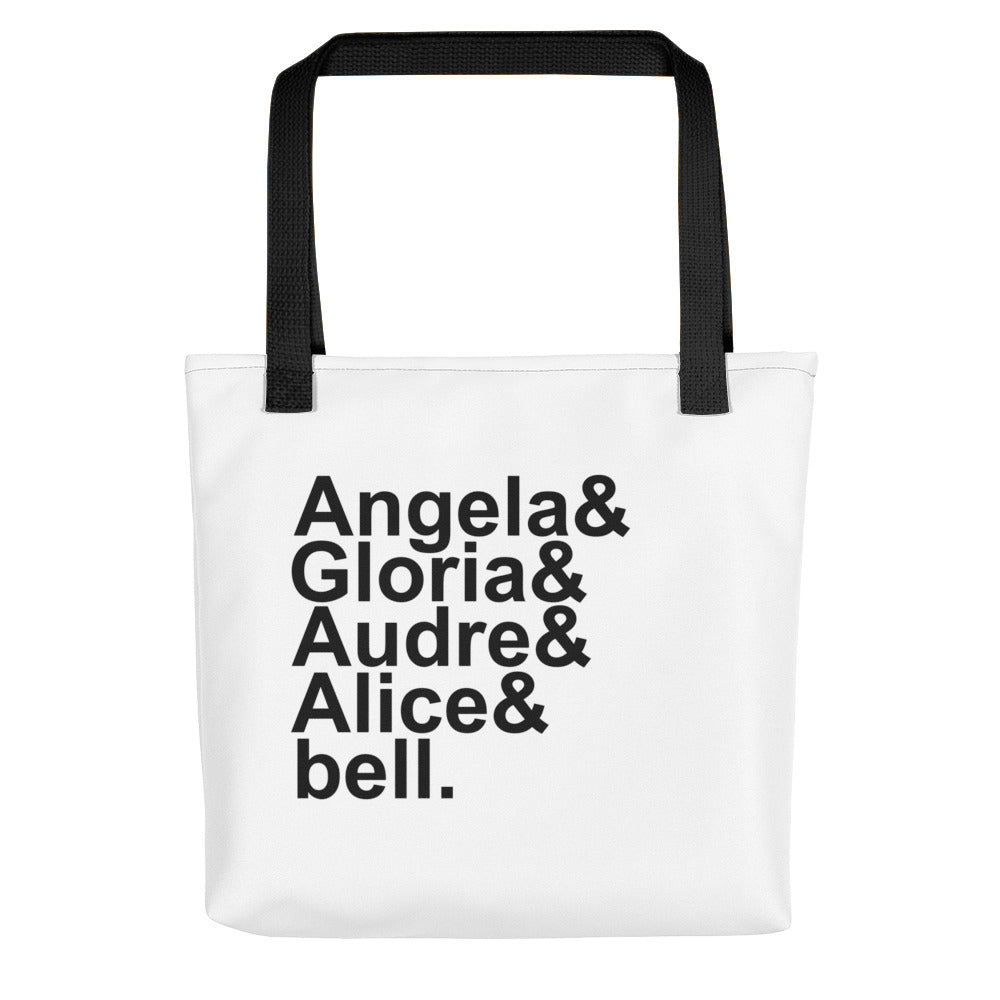 Feminist Pioneers Feminist Name List Tote Bag