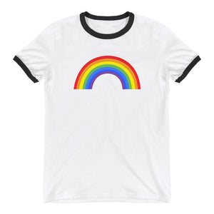 Gay Pride Shirt - Rainbow Ringer Tee