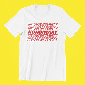 Nonbinary Thank You Bag Shirt