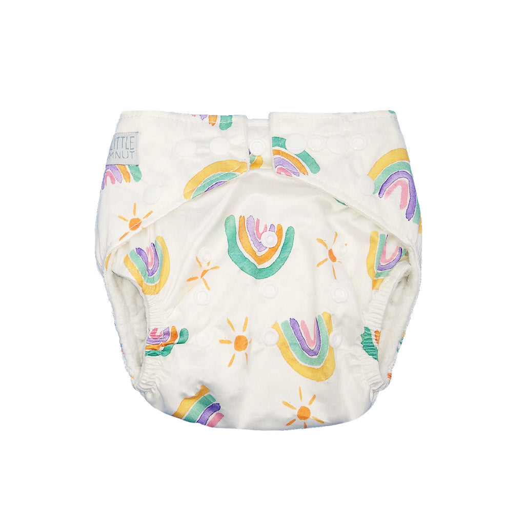 My Little Gumnut Cloth Nappy Bamboo Insert Pastel Rainbows