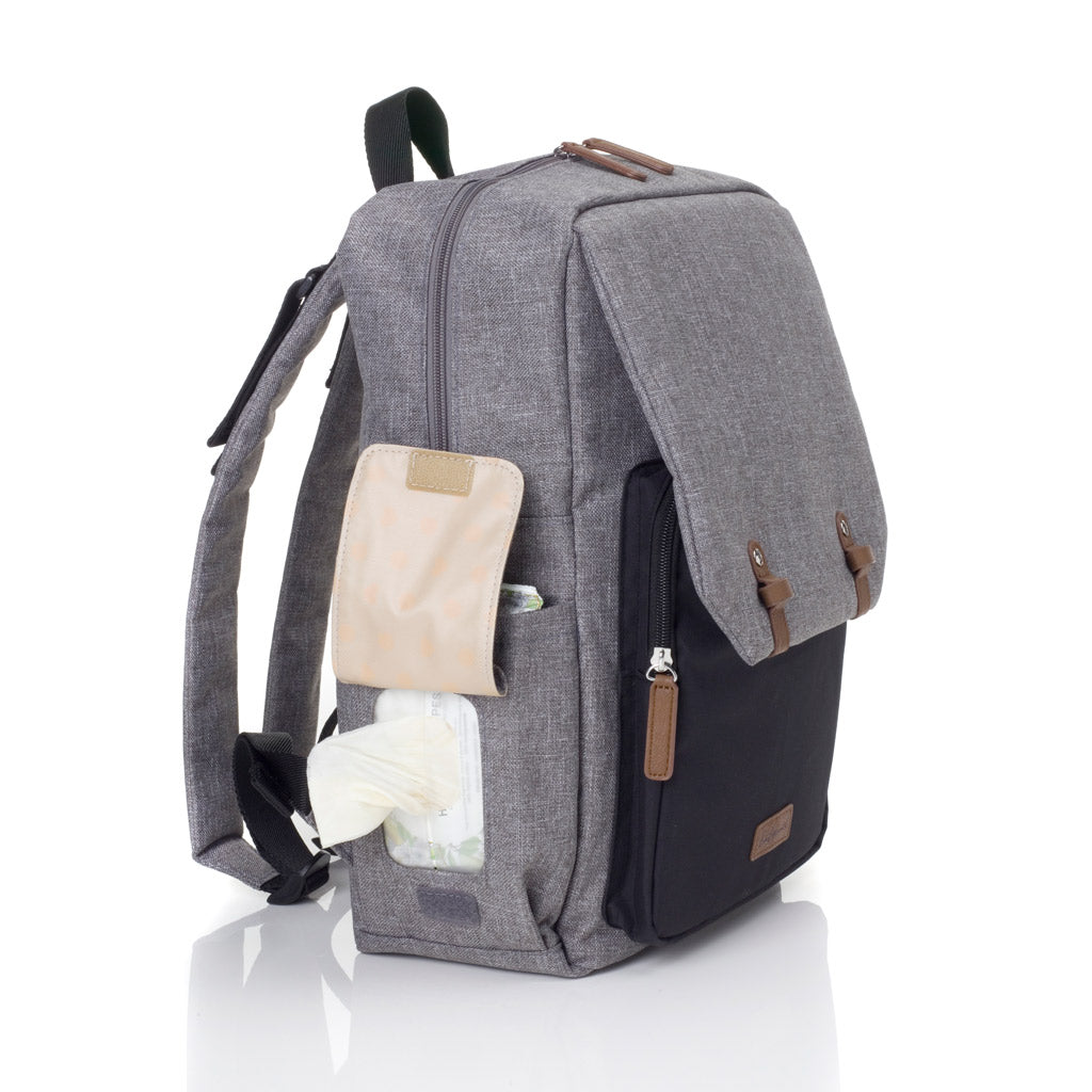 Babymel George Black/Grey Nappy Backpack