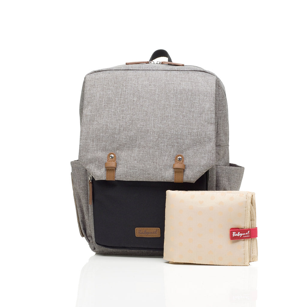 Babymel George Nappy Bag Black/Grey