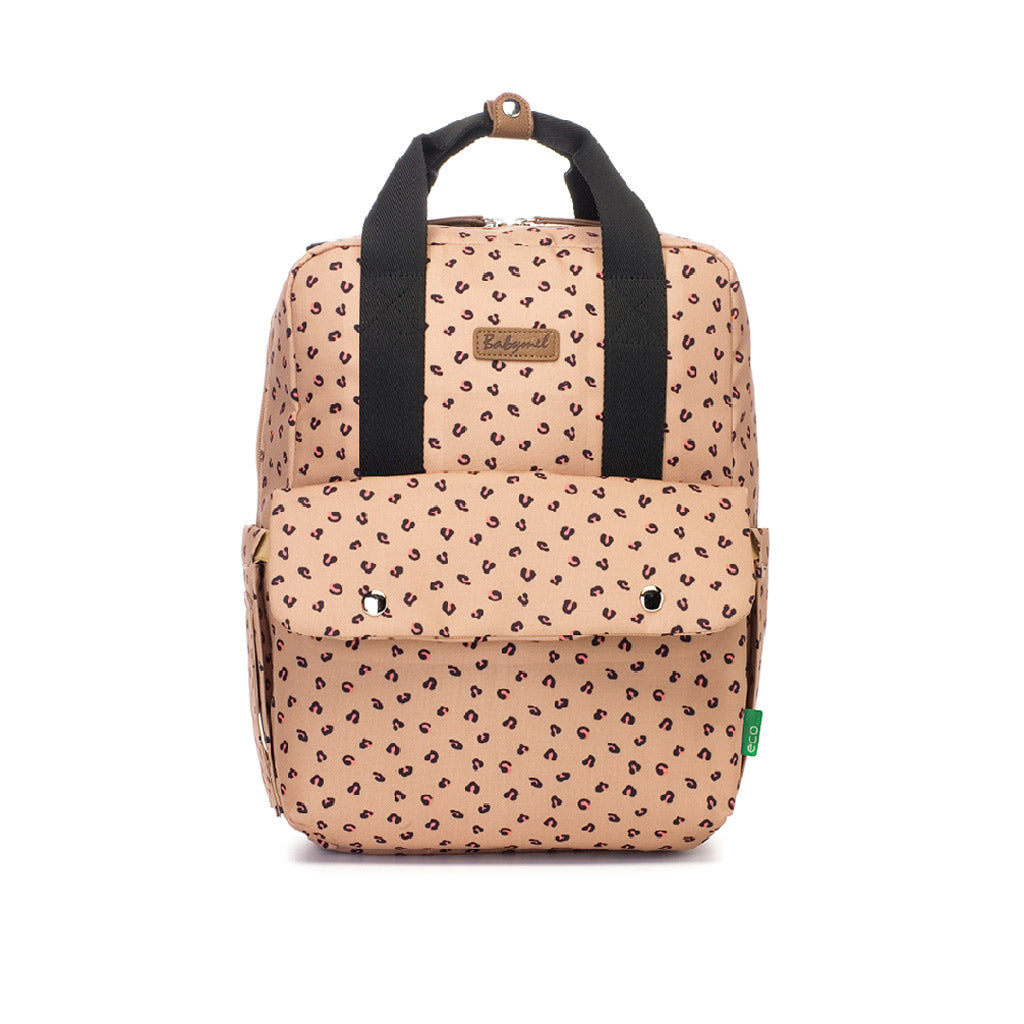Babymel Georgi eco Convertible Backpack Caramel Leopard